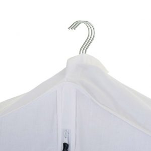 Garment clothes storage bag with velcro fastening