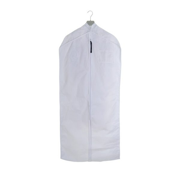 Garment storage bag white cotton - medium