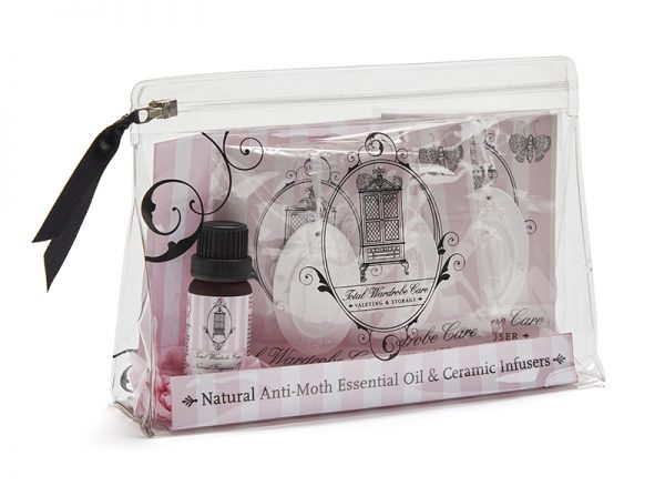 Natural anti-moth oil gift set - essential oils and infusers   Total Wardrobe Care