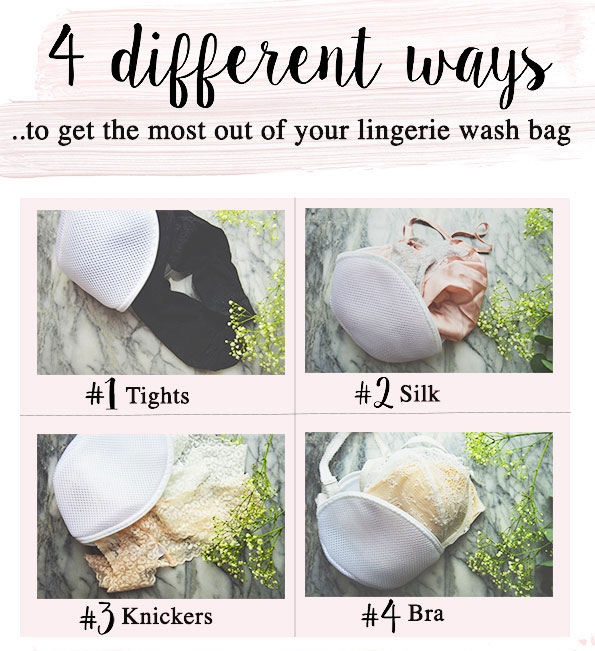 4 steps to get the most out of your lingerie wash bag