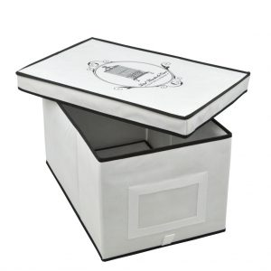 Large storage box black and white | Total Wardrobe Care