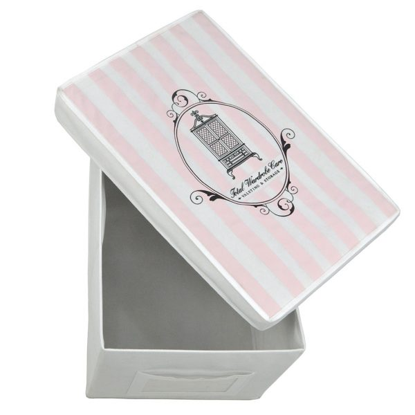 Large storage box pink and white | Total Wardrobe Care