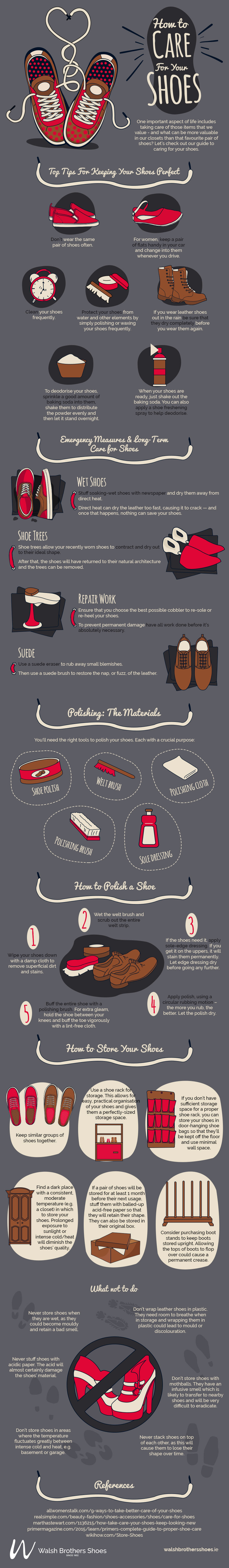 Infographic: maintain your shoes' quality with these great tips