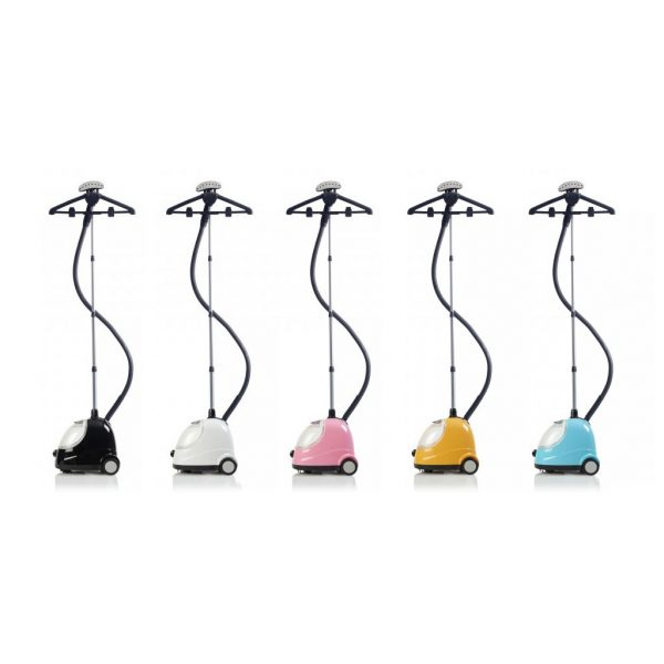 Fridja clothes steamer F-1000 black, white, pink, yellow and blue | Total Wardrobe Care