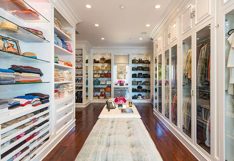 Clothes in long term wardrobe storage