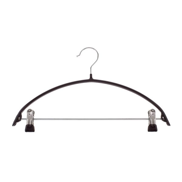 Non-slip rubber hanger with clips | Total Wardrobe Care