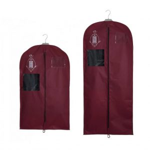 Non-woven garment storage bags small and medium burgundy | Total Wardrobe Care
