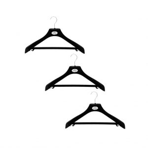 Pack of 3 grey velour coat hangers | Total Wardrobe Care