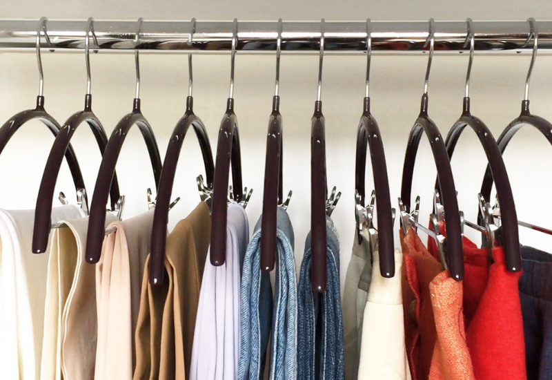 Hangers in a wardrobe - The best hangers for clothing care.