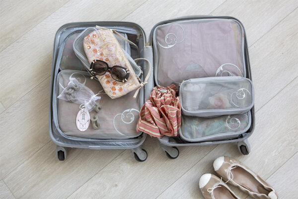 Suitcase with Total Wardrobe Care products